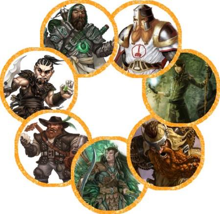 Imágen de los tokens de los héroes de Phandalin